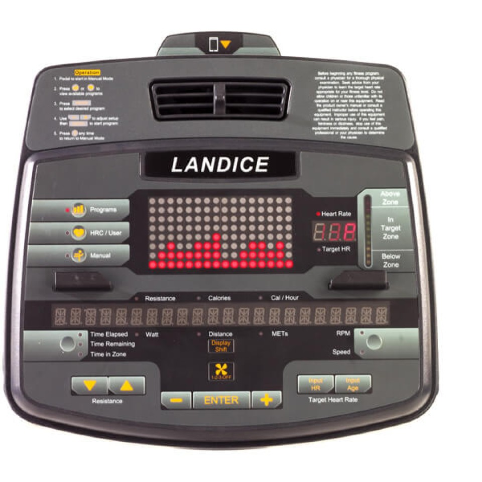 Console for Landice R7 Recumbent Bike