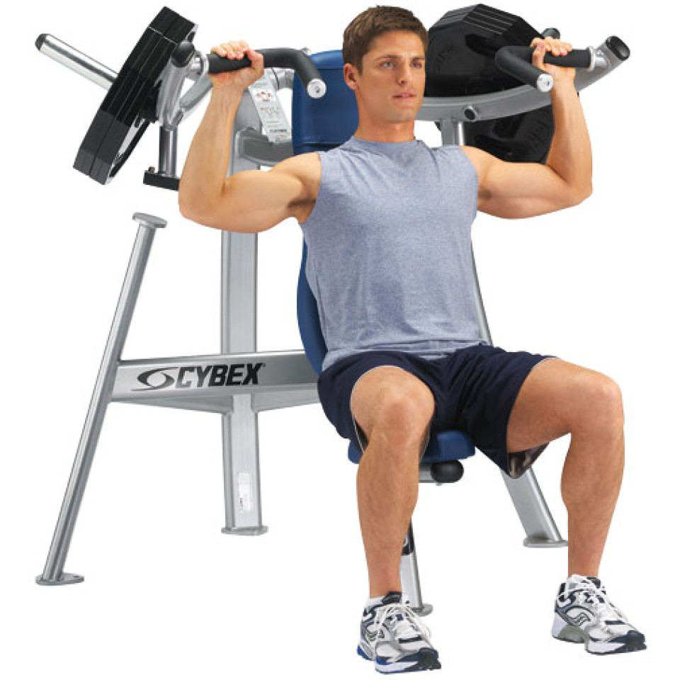 how to use a seated shoulder press machine