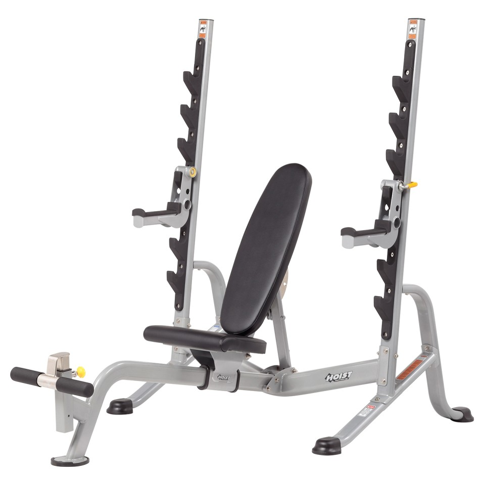 HOIST HF-5170 7 Position F.I.D Olympic Bench - With Safety Tier