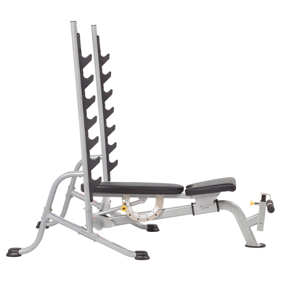 HOIST HF-5170 7 Position F.I.D Olympic Bench - Raised