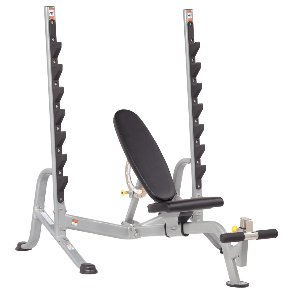 HOIST HF-5170 7 Position F.I.D Olympic Bench - Angle View
