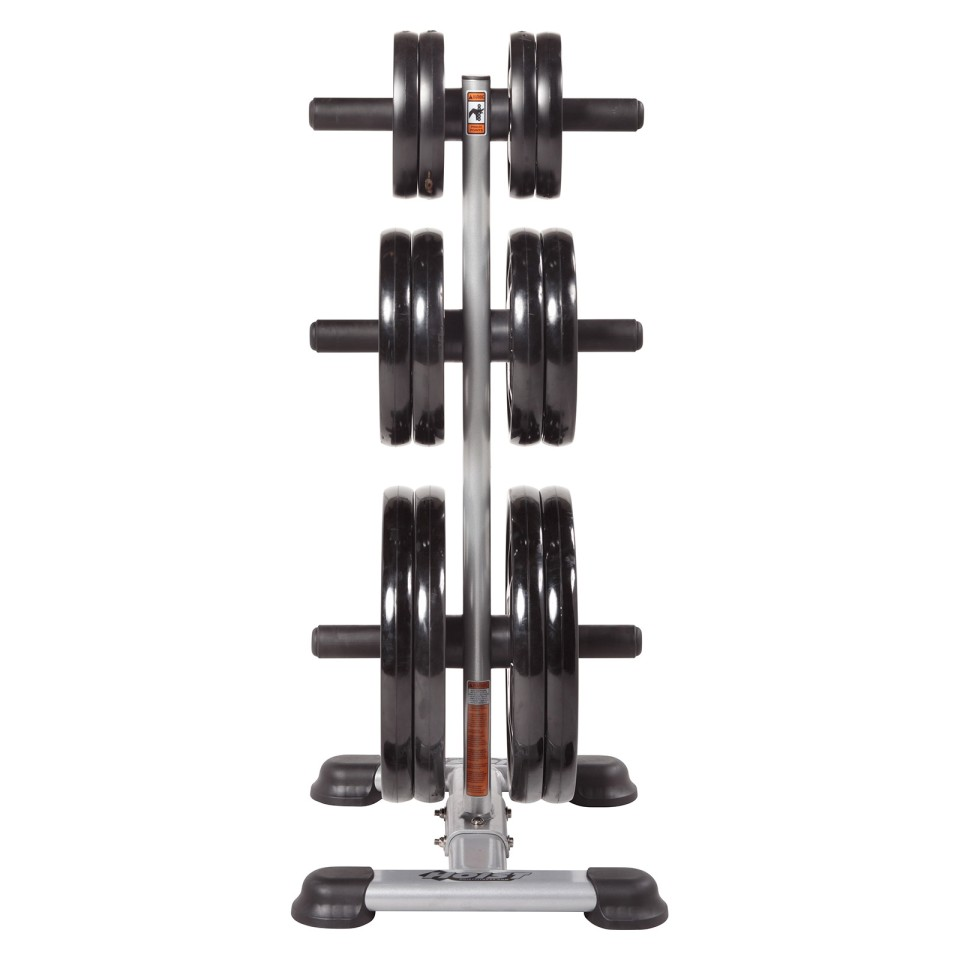 Hoist HF-5444 Olympic Weight Tree - With Weights Front