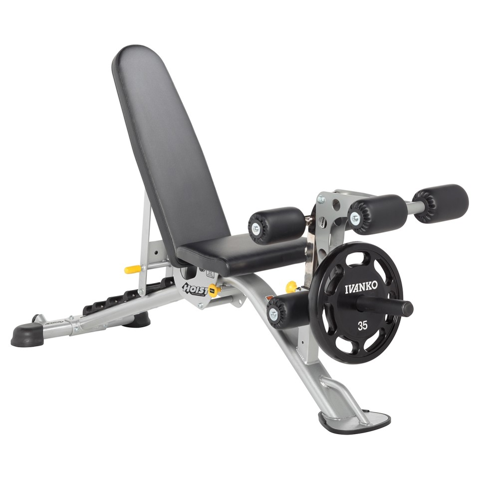 HOIST HF-5165 7 Position FID Bench with Leg Curl Attachment
