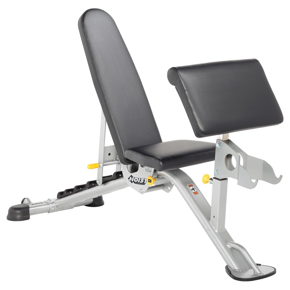 HOIST HF-5165 7 Position FID Bench with Preacher Curl Attachment