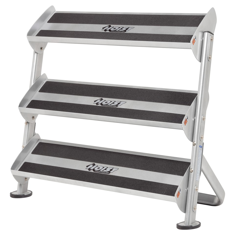 "HOIST HF-5461-36 2 Tier 36"" Hex Dumbbell Rack With Optional 3rd Tier - Right Angle"