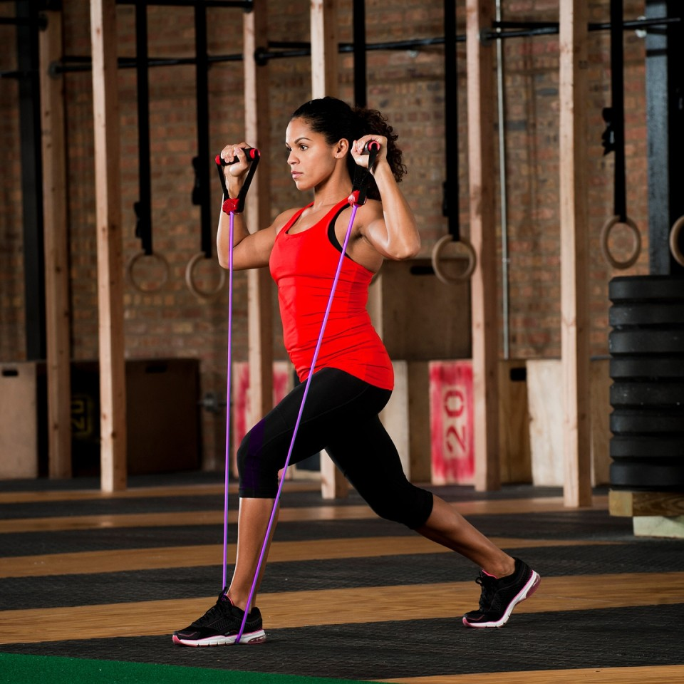 Lifeline Resistance Cable 5' - Woman Exercising
