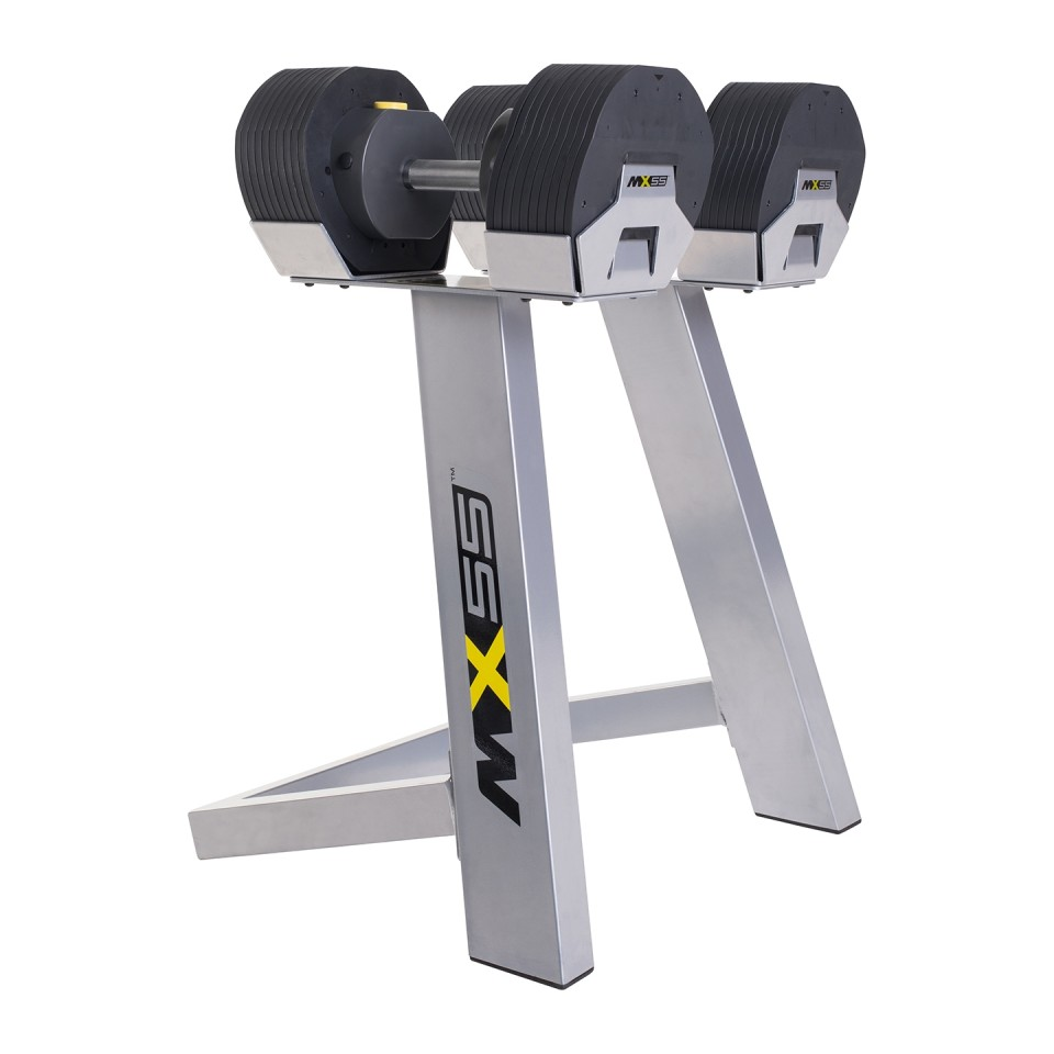 MX55 Selectorized Dumbbells & Stand
