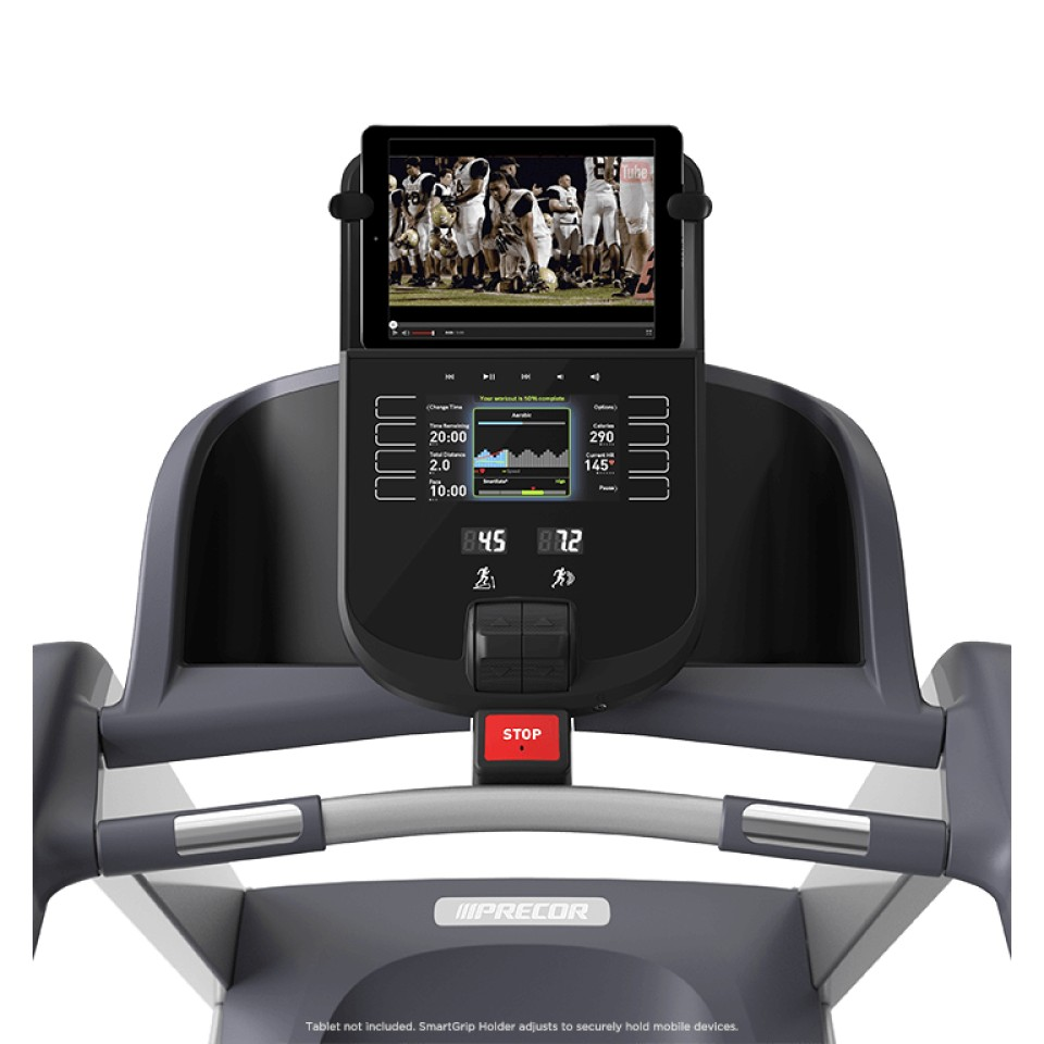 Precor® TRM Precision Series Treadmill- Console with SmartGrip™ Tablet Holder