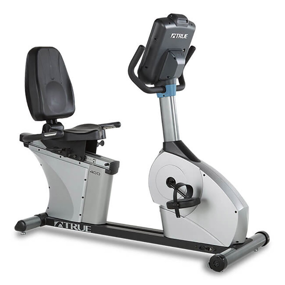 TRUE C400 Recumbent Bike - 3/4 Front