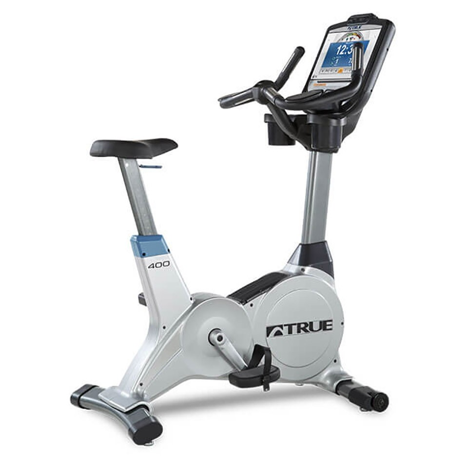 TRUE C400 Upright Bike - 3/4 Back