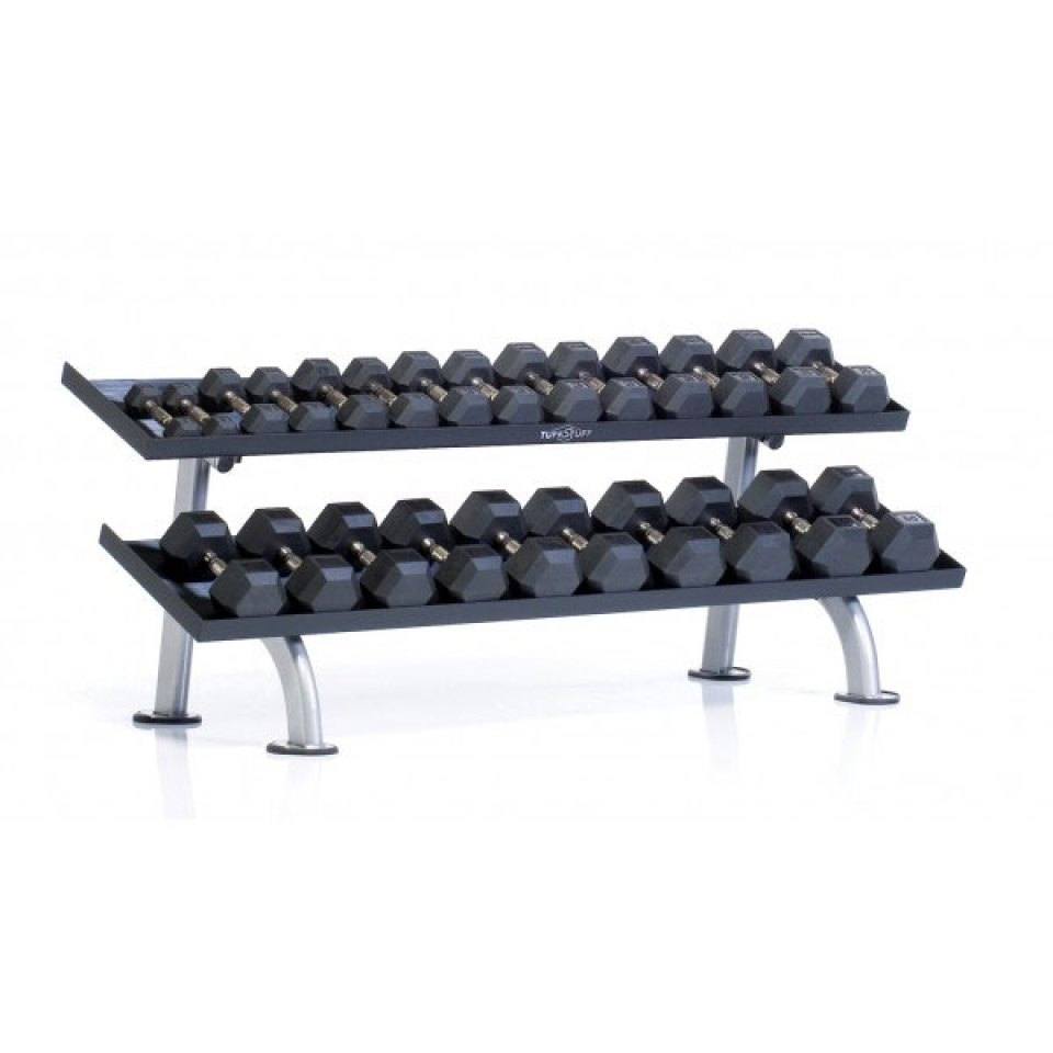 Tuff Stuff 2-Tier Tray Dumbbell Rack