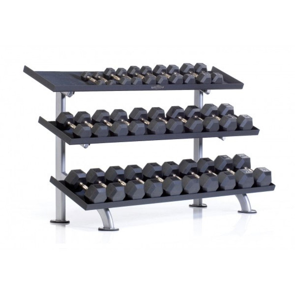 Tuff Stuff 3-Tier Tray Dumbbell Rack