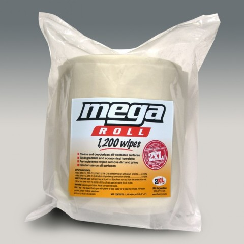 2XL Corp Mega Roll - 1200 count Biodegradable (case of 2 refills)