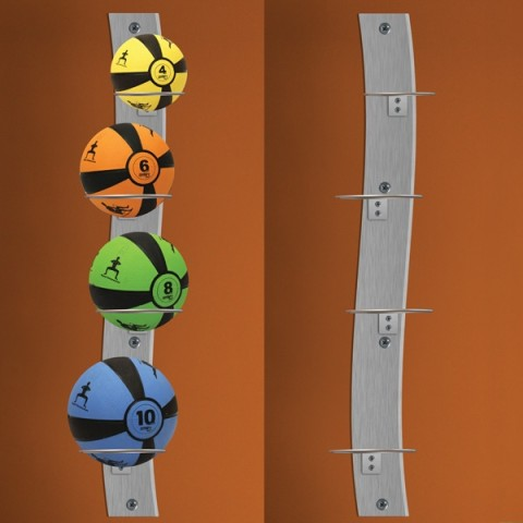 Prism Wall-Mounted Medicine Ball Rack Package
