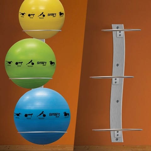 Prism Wall-Mounted Stability Ball Rack Package