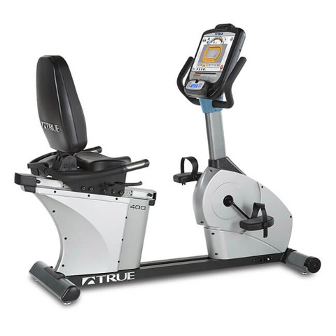 TRUE C400 Recumbent Bike - 3/4 Back
