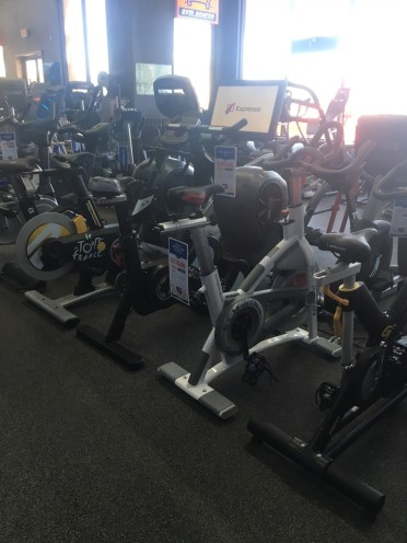 We have many exercise bike, recumbent bikes, upright bikes, and indoor cycles to choose from. We also have vibration training, strength equipment, rowers, and more.
