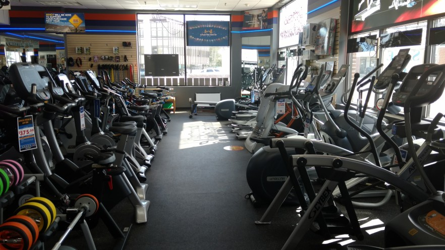 We have many ellipticals as well. Come try out the Arc Trainer.