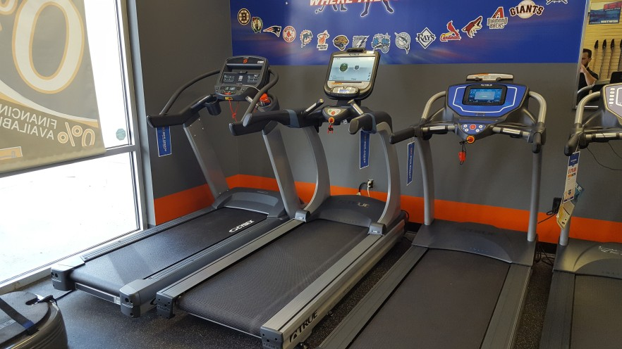Our Cybex and TRUE treadmills.