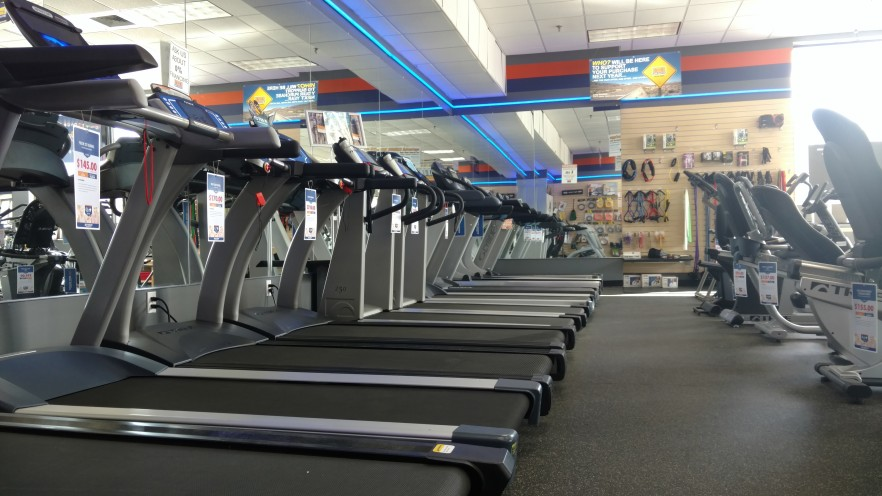 Come test out our treadmills and find one that's right for you. This is only a sample of the treadmills we carry. Yes, we offer 0% interest financing as well.