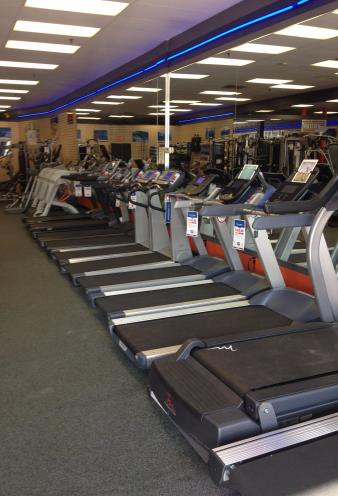 We also have many treadmills to test and choose from.