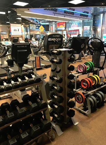 Free weights, NuBells, we have it all.