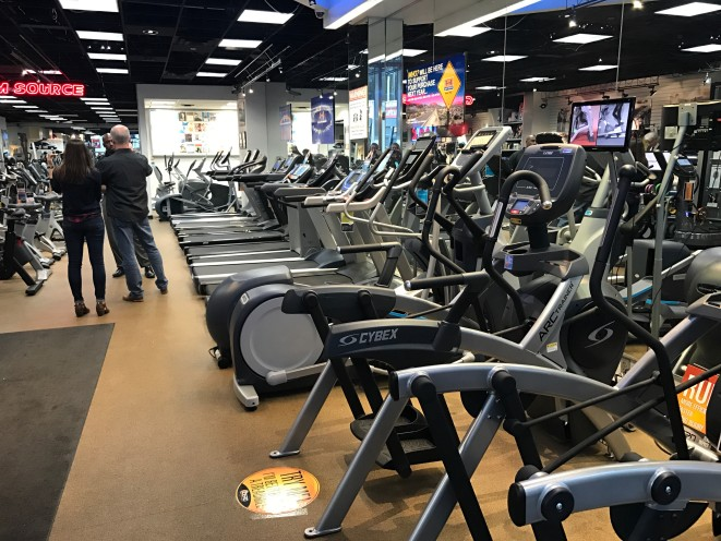 Did we mention we have a lot of gym equipment in our showroom?