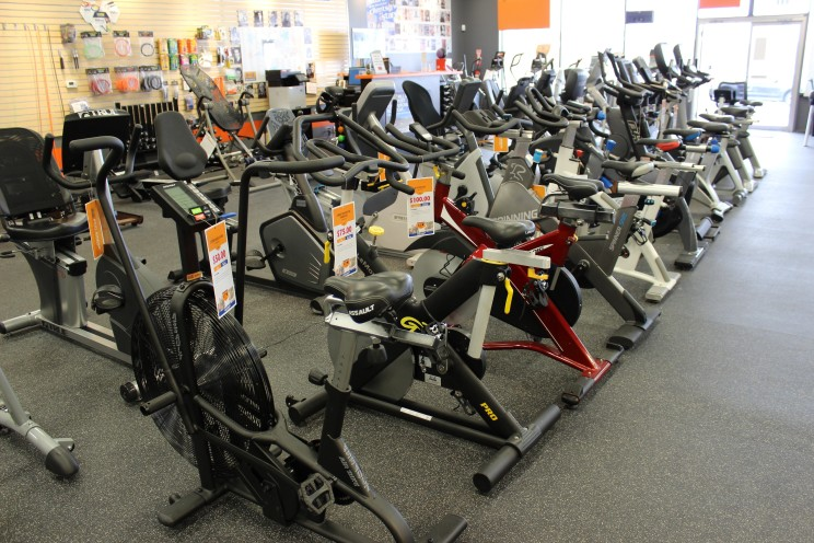 We also have exercise bikes, recumbent bikes, indoor cycles, upright bikes, steppers, rowers, and more.